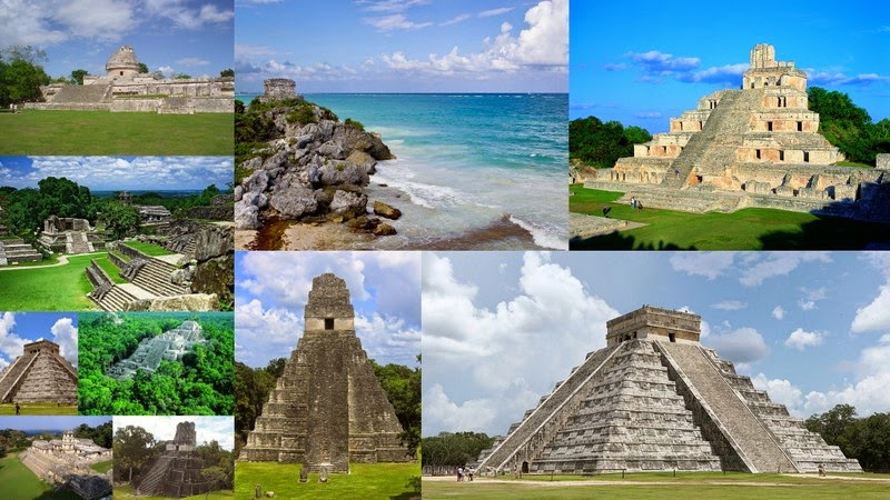 templos y construcciones mayas