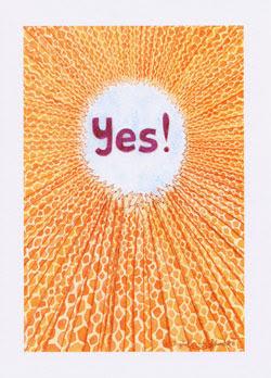 Giraffe Greeting Cards by UK artist Ingrid Sylvestre  - Yes