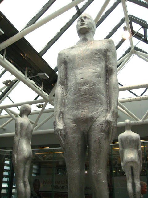 Sculptures at the Reykjavik airport.