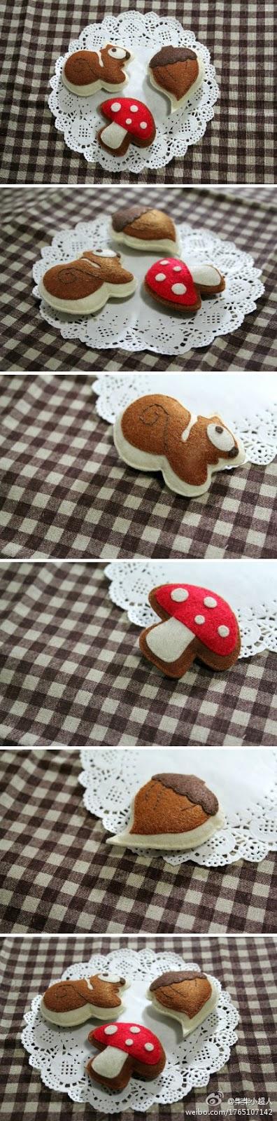 artesanato-feltro-cogumelo