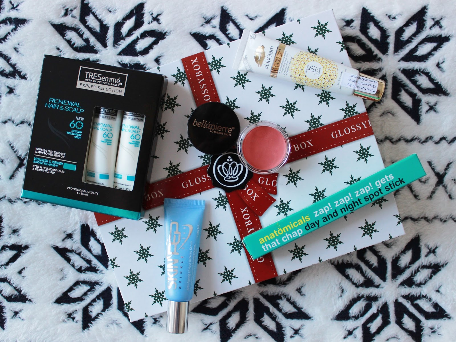 Glossybox December 2014 box contents