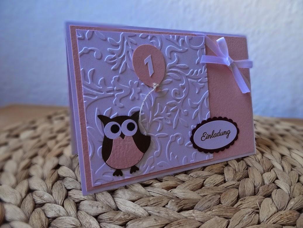 Die Kleine Laura Wird Dieses Jahr Nicht Nur Getauft, Sie Hat Auch Ganz Bald  Ihren Ersten Geburtstag. Dafür Sind 10 Eulige Einladungskarten Entstanden,  ...