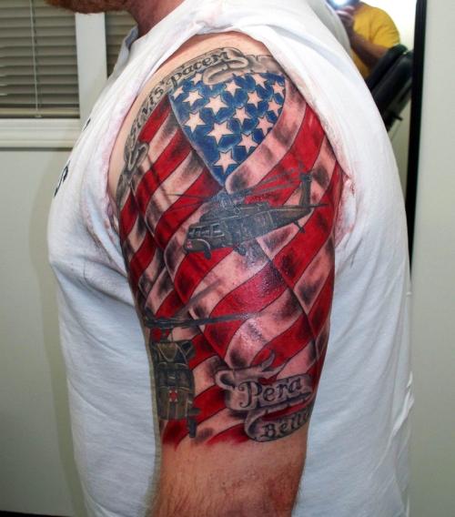 sleeve tattoos american flag sleeve tattoos gallery. Black Bedroom Furniture Sets. Home Design Ideas