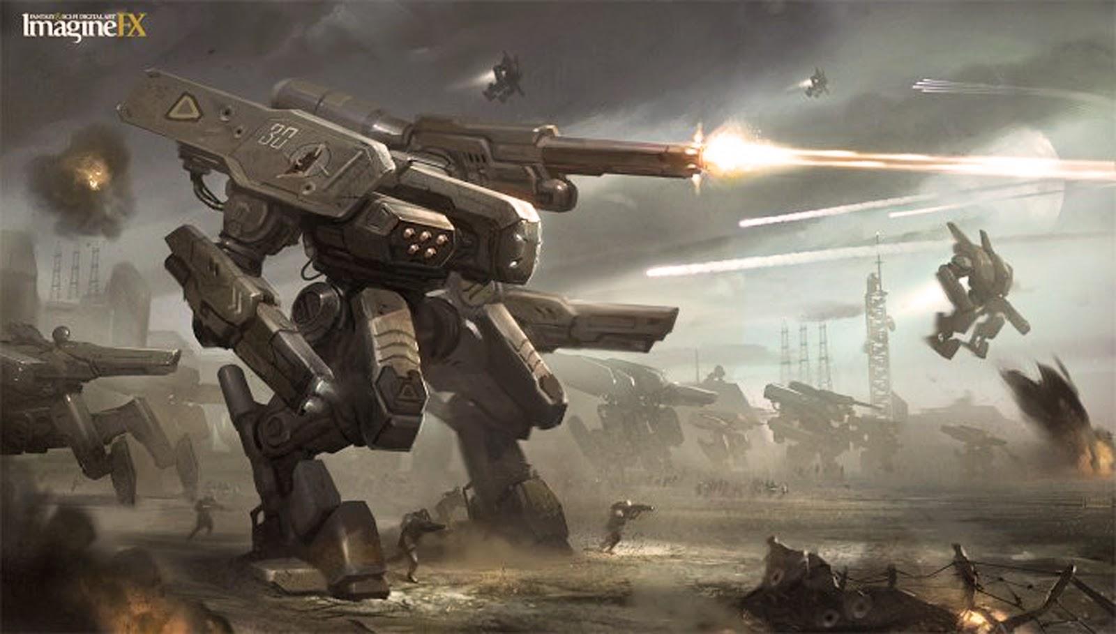 La Bataille de Themyscira [Brainiac : WotFC] Mech+mecha+giant+robot+concept+art+design+gundam+villain+decepticon+hunter+drone+transformers+2+3+4+movie+sci+fi+wallpaper++Mech+Army+by+Twitchfinger
