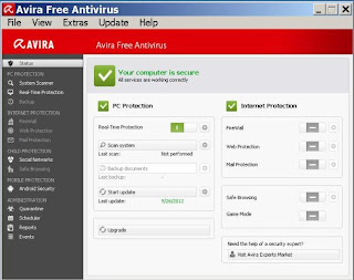 avira status screen shot