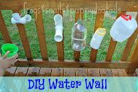DIY Water Wall  kid activities for summer