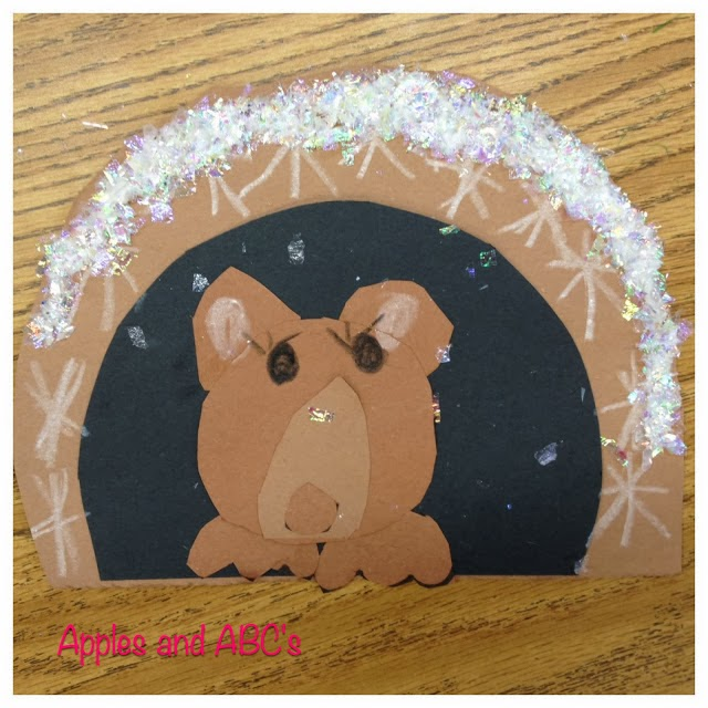 Hibernating bear craft apples and abc 39 s for Hibernation crafts for preschool