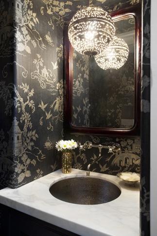 To Da Loos Chinoiserie Bathroom Walls