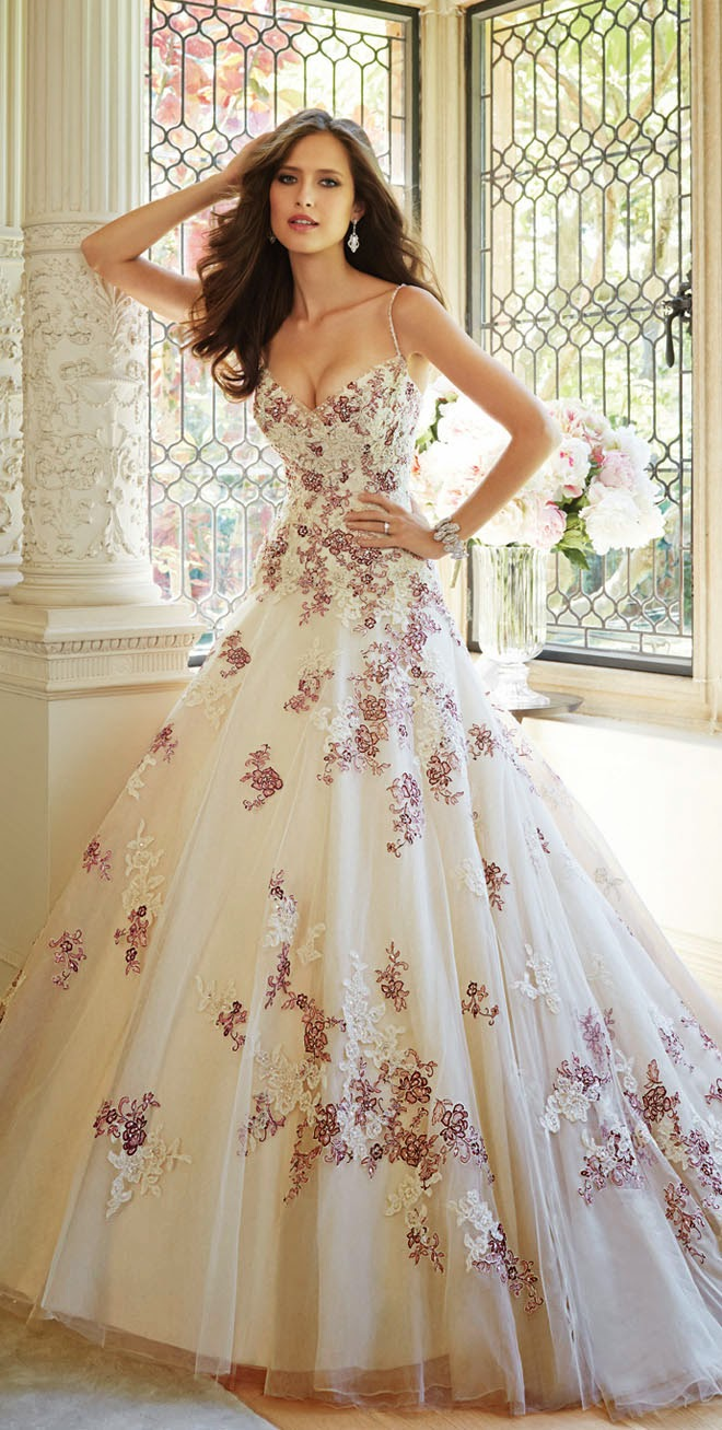 Flower Floral Wedding Gowns : Sophia tolli fall bridal collection belle the magazine