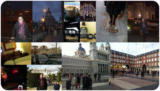 Collage de fotos de mi viaje a Madrid