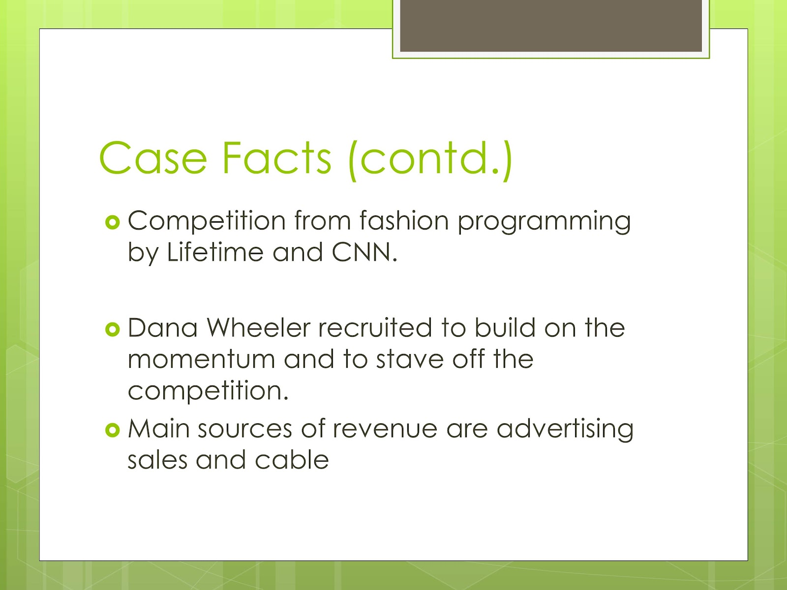 fashion channel case Case study with this is mind,  fashion trends - they are very creative, but typically small the capability to create new design trends, and the capability to.