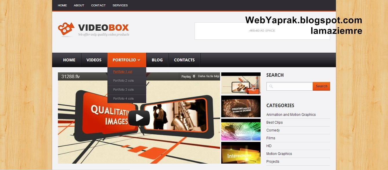 VideoBox Blogger Teması lamaziemre