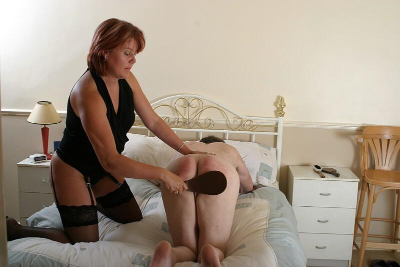 spanked naughty boy
