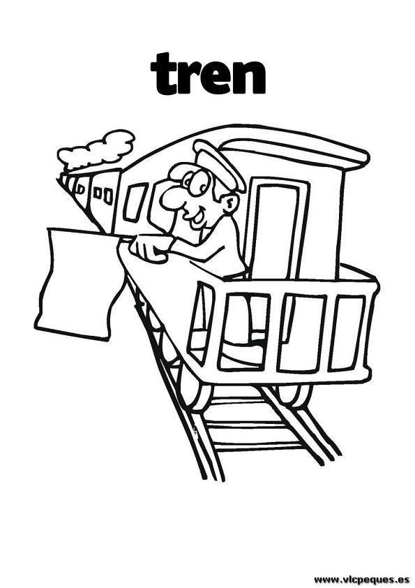 Tren dibujos para colorear | VLC peque
