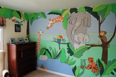 vẽ tranh tường mầm non,vẽ tranh tường