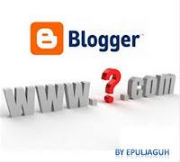 register blogspot dengan domain anda epul jaguh