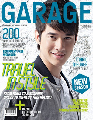 Mario Maurer covers Garage Magazine