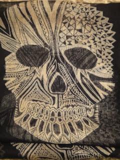 Zara Skull Scarf, Skull Scarf, Zara Scarf, How To Wear A Skull Scarf