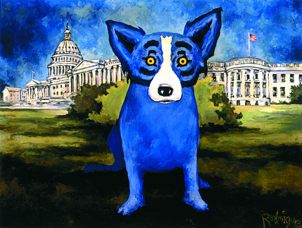 musings of an artist s wife washington blue dog and the