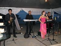 Jason's wedding jazz band performing during the wedding