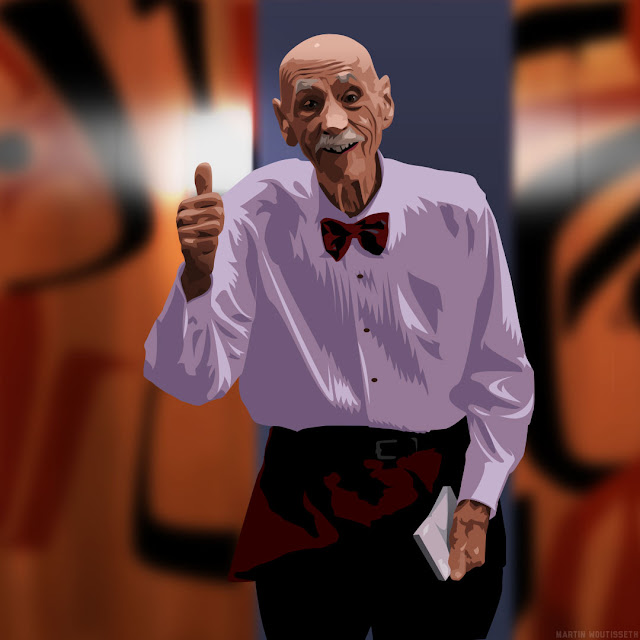 Twin peak illustrated - Elderly room service waiter