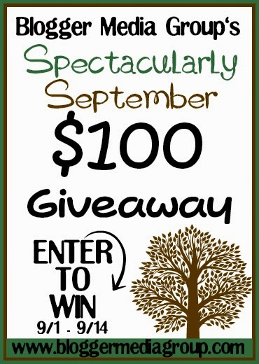 enter the Spectacularly September $100 Cash Giveaway. Ends 9/14