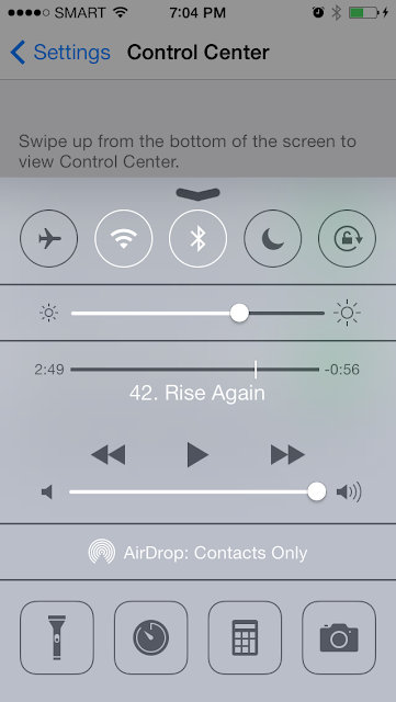Disable auto rotate in iphone 5s