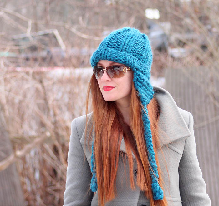 Free Knitting Pattern Hat With Ears : Cobbles Ear Flap Hat Knitting Pattern - Gina Michele