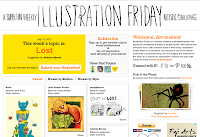 site do concurso livre do Illustration Friday