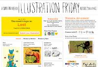 site do concurso livre do Illustration Friday