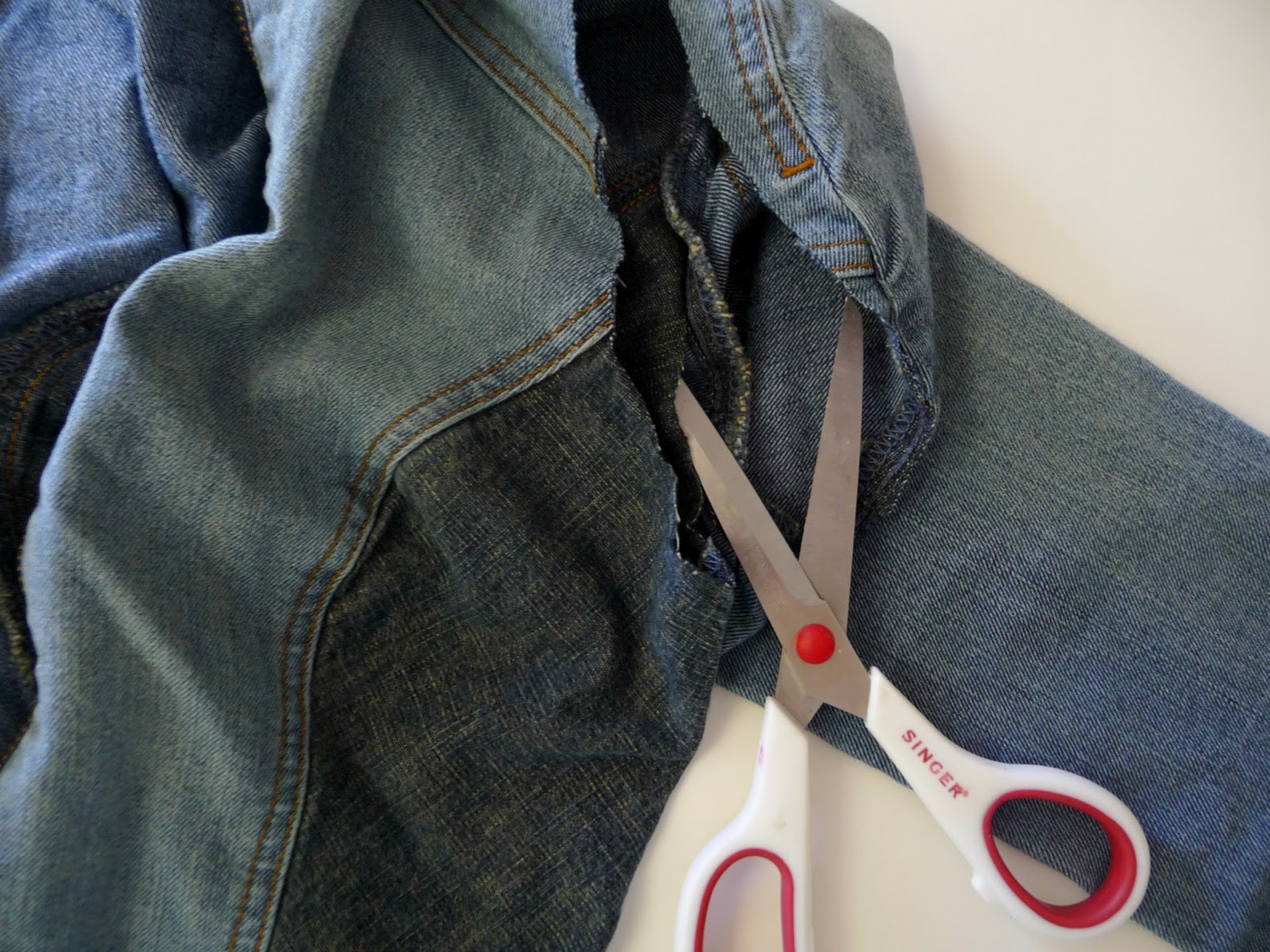 DIY denim vest refashion