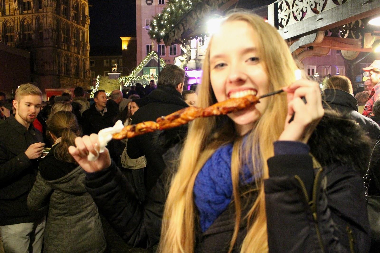 food at cologne christmas markets