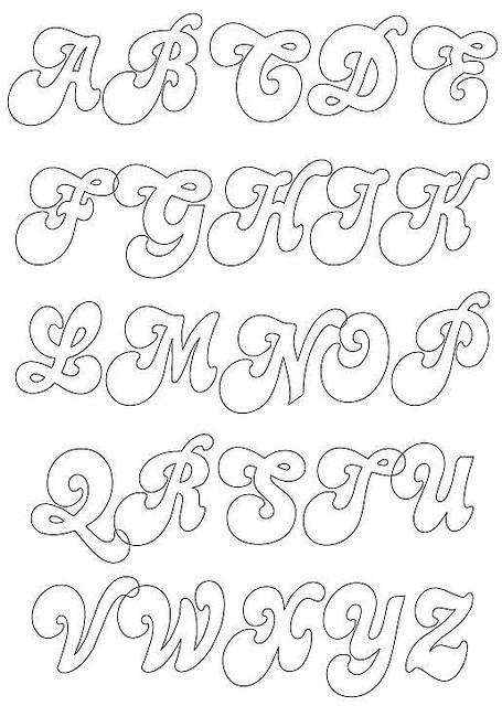 Fieltrolocuras abecedario cl sico para trabajar con fieltro - Letras para adornar ...