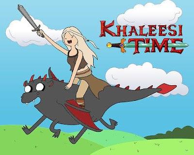 khaleesi time hora de aventuras - Juego de Tronos en los siete reinos