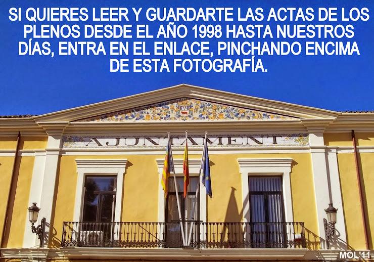 LOS PLENOS DEL AYUNTAMIENTO DE MANISES, 1998 2015