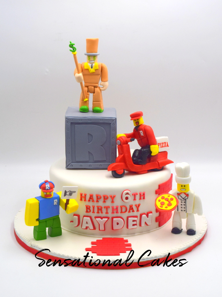 Roblox Sugar Handcrafteed Characters Birthday Boy Theme Custom 3d Cake Singaporecake