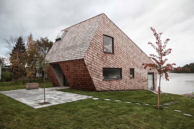 architektura, dom kryty gontem, gont