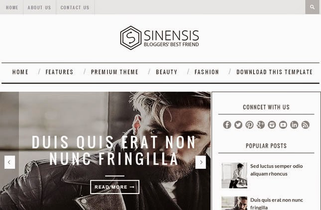 Sinesis Responsive Blogger Template