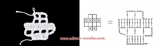 aumentos e dimunuições no crochê filé em curso de croche 3 volumes dvd video aula com frete gratis por Edinir-Croche