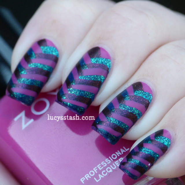 Lucy's Stash - Fishtail braid nail art with Mash Matte polish