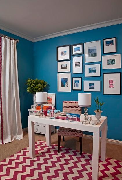 interior rumah bernuansa biru