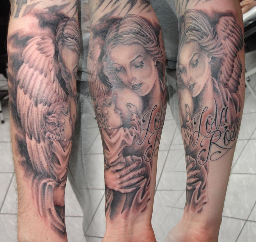 Get Inspired by Angel Tattoo Designs