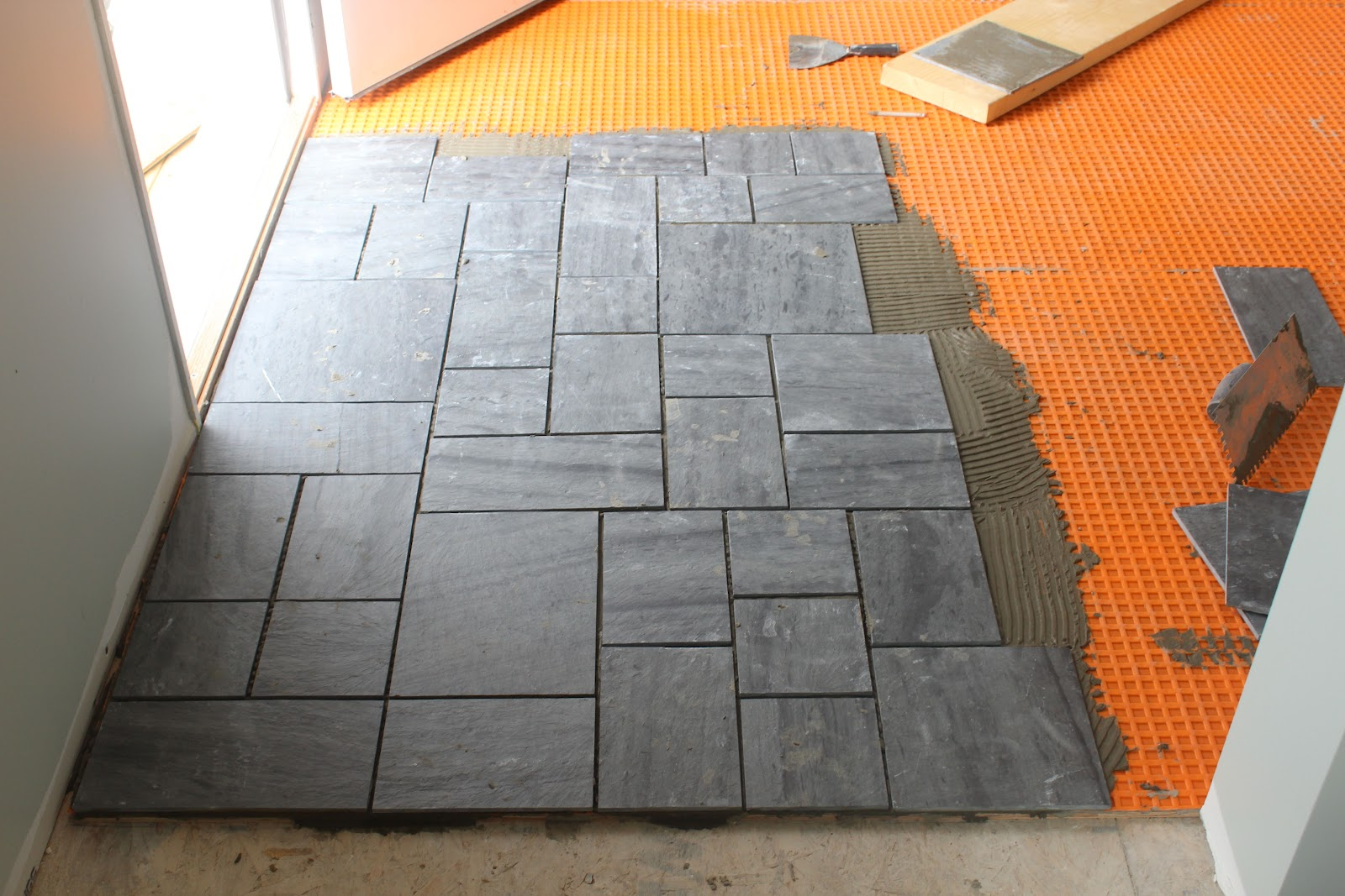 Tile Flooring Installation diy ceramic floor tile installation Installing A Slate Tile Floor