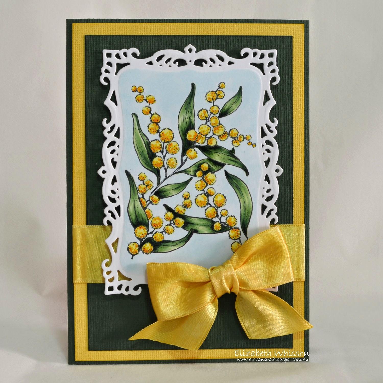 Elizabeth Whisson, Flourishes, Bloomin' Aussie Florals, Watte, Acacia, copics, handmade card