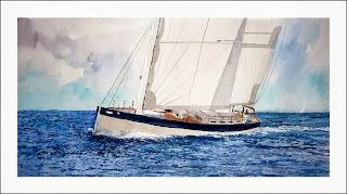 acuarela de un velero