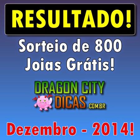 Resultado do Super Sorteio de 800 Joias - Dezembro 2014