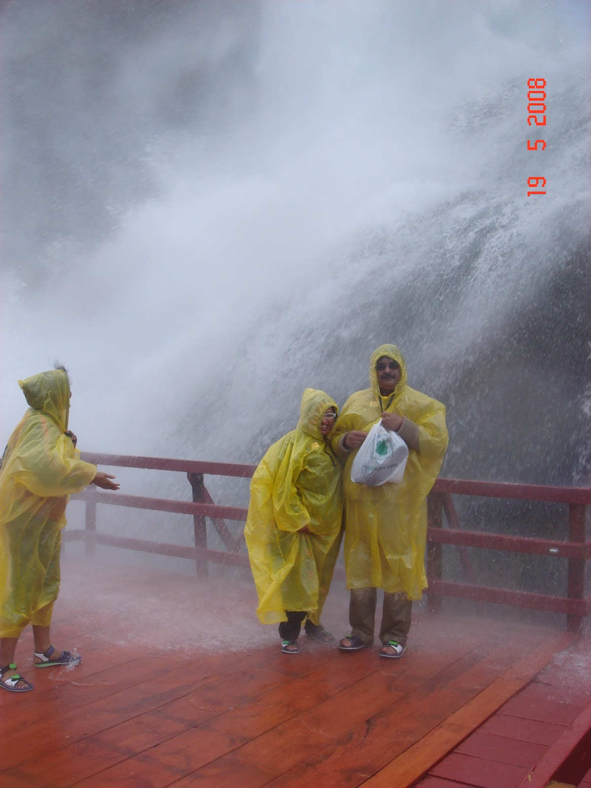 Getting wet at Goat Island at Niagara falls
