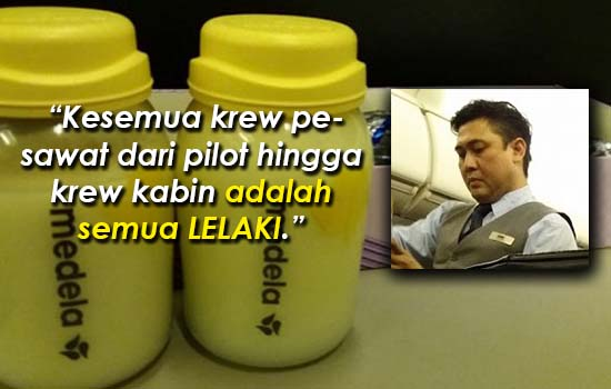 Penumpang terpaksa perah susu, lihat apa tindakan pramugara MAS