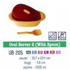 Info & Harga Twin Tulip Tulipware 2014 : Oval Server With Spoon - Sendok Nasi
