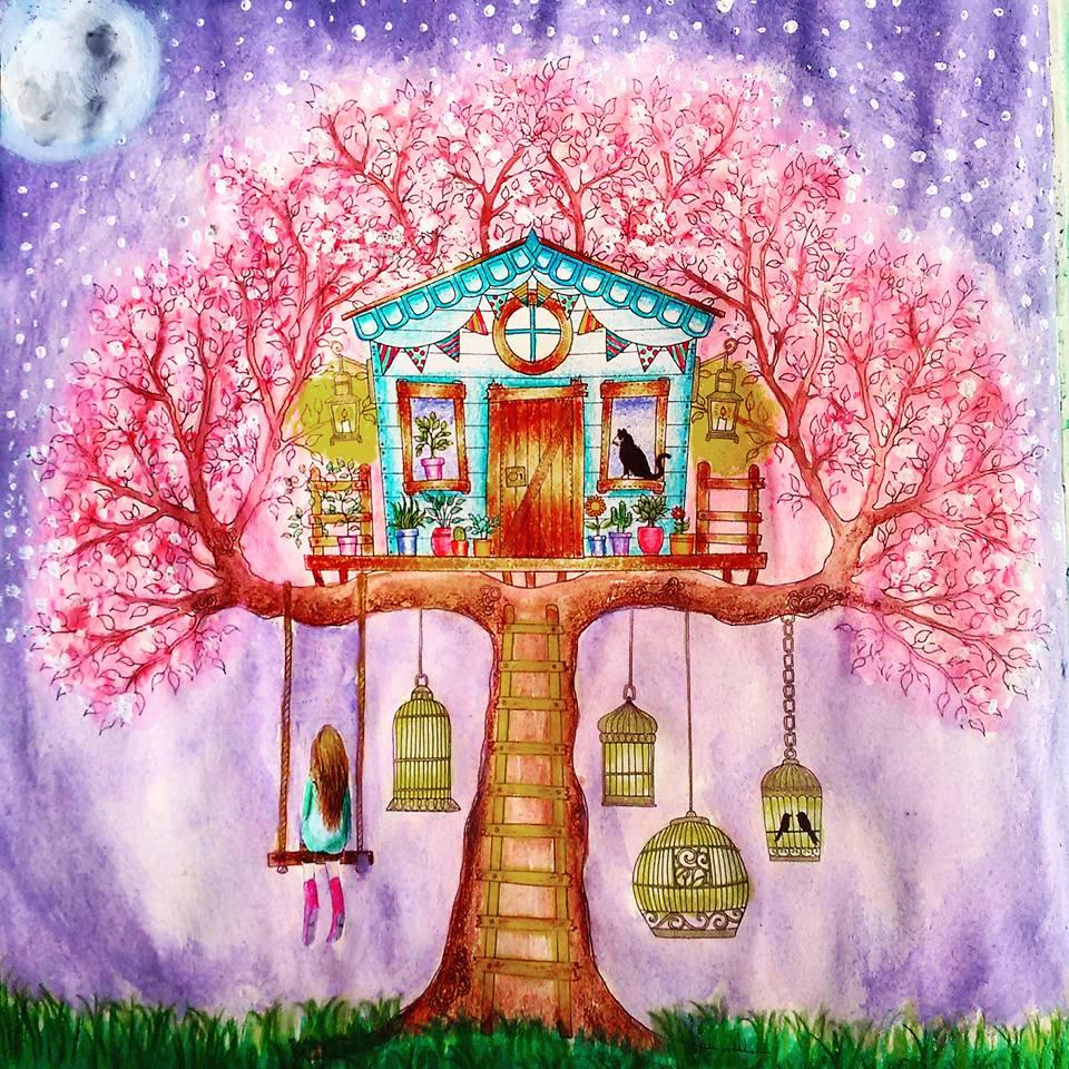 DIY Decoração: Livro de colorir Jardim Secreto: Minhas pinturas 2